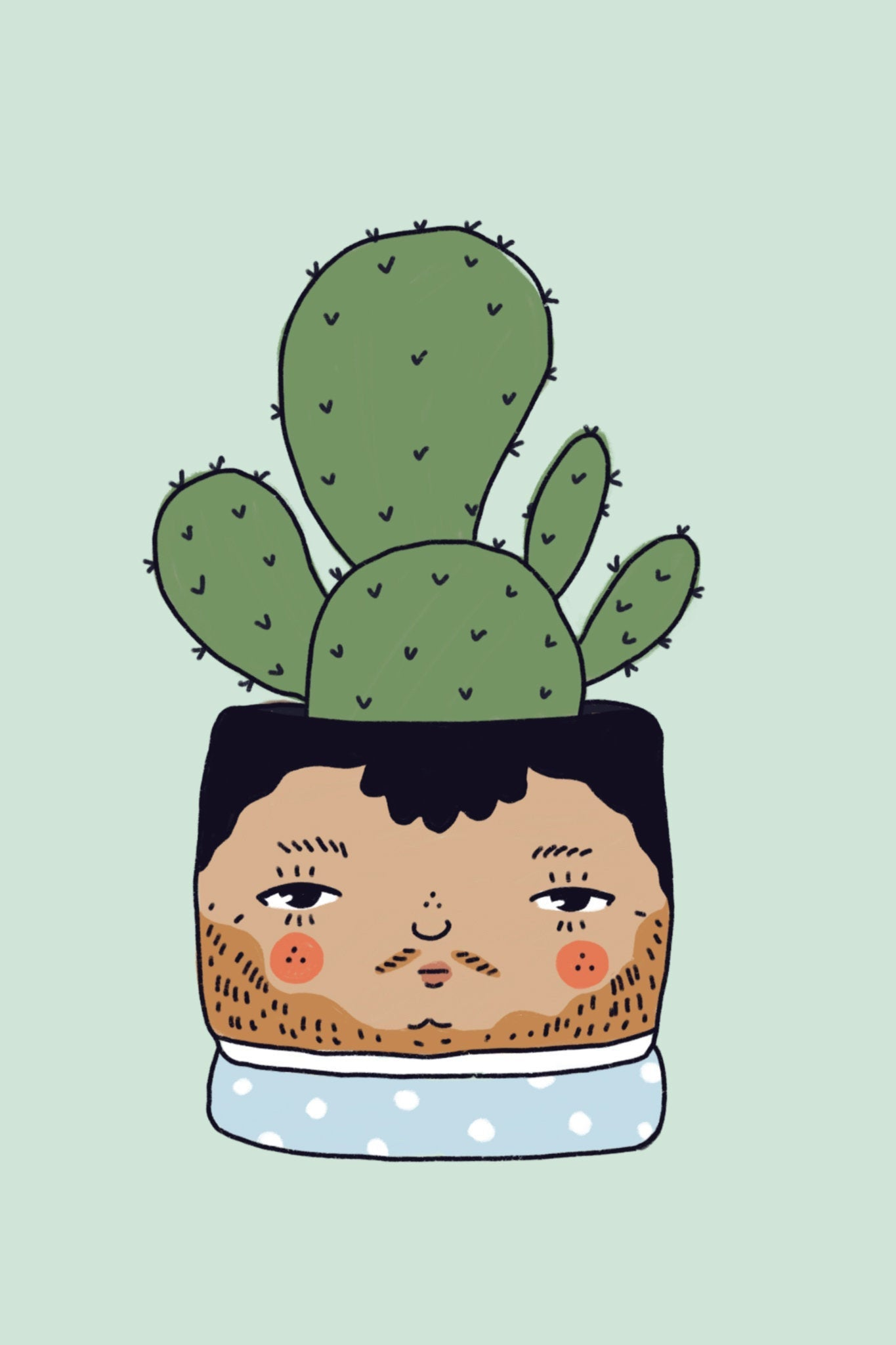 Cacti Plant People 4x6 Print