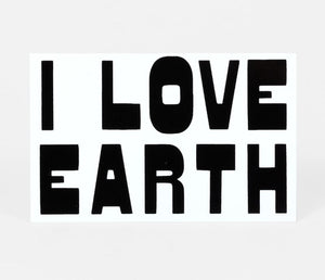 I LOVE EARTH Sticker
