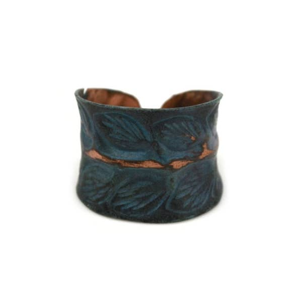 Leaves Copper Patina Ring