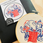 Load image into Gallery viewer, Industrious Octopus Embroidery Kit