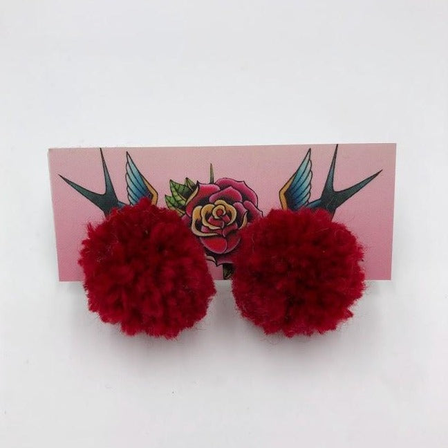 Pom Stud Earrings
