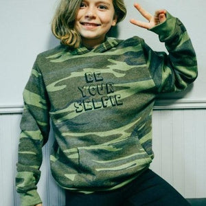 Be Your Selfie Youth Pullover Hoodie