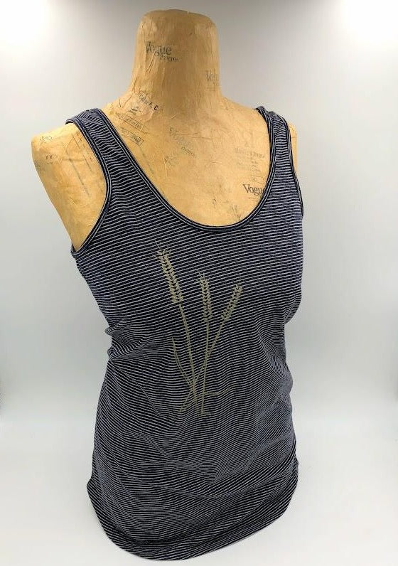 Golden Wheat Stripe Tank