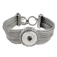 18MM SILVER CHAIN TOGGLE BRACELET
