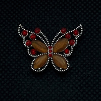18mm Snap Red and Orange Butterfly
