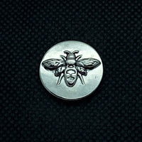 18mm Silver Tone Bumble Bee
