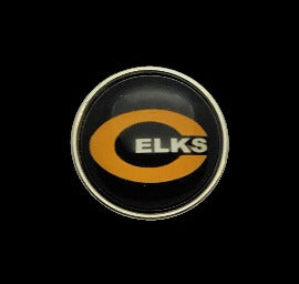 18mm Centerville Elks Snap with black Background