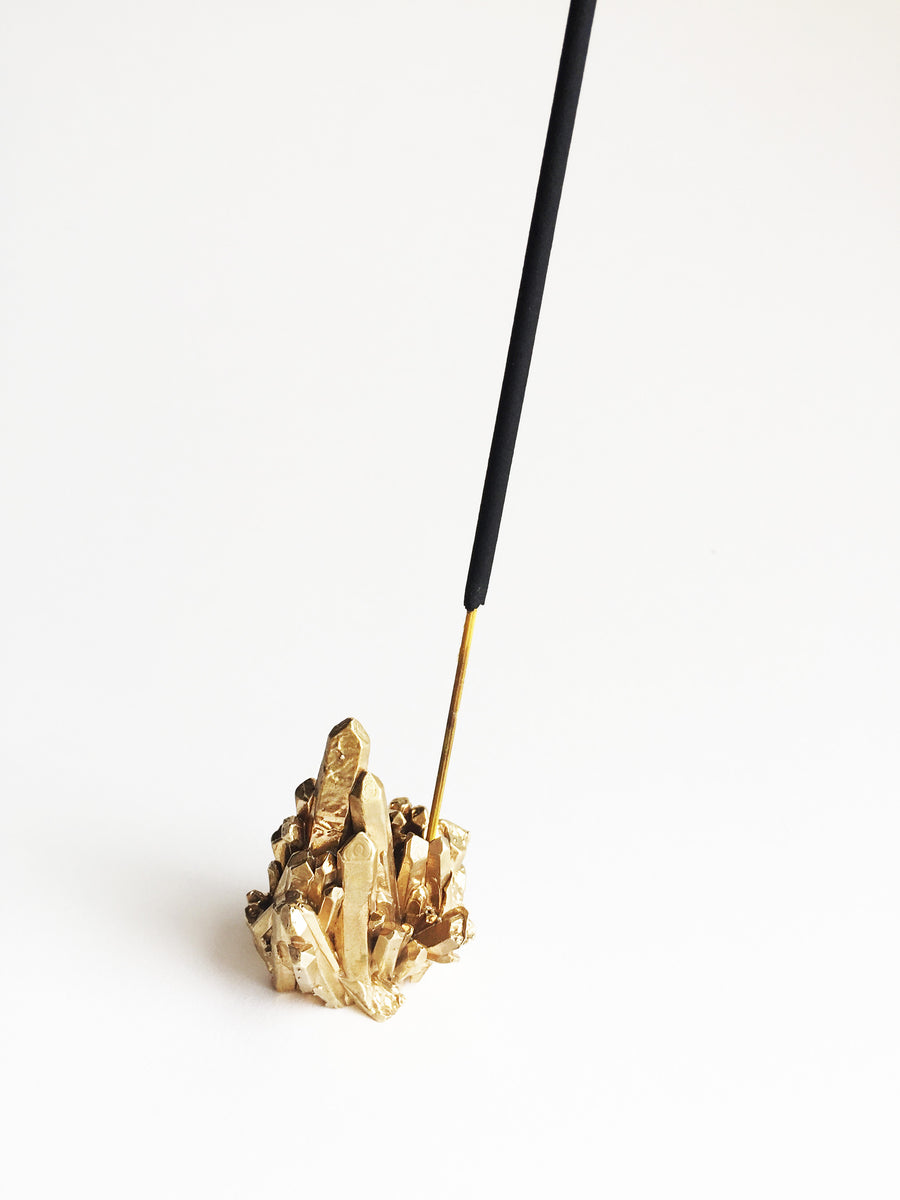 Brass Crystal Incense holder