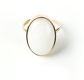 Drift 14K Cabouchon Big Ring