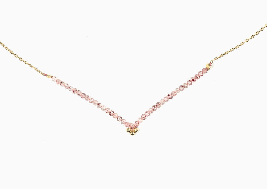 Drift Flower Strawberry Quartz Necklace
