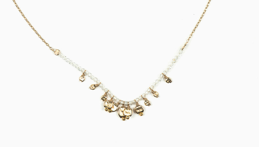 Drift Cluster White Topaz Necklace