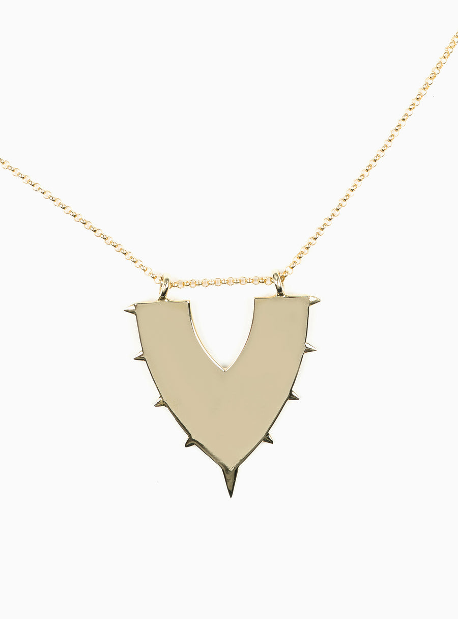 Drift Large Shield  Necklace