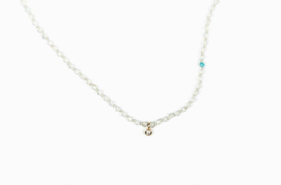 Drift 14K Diamond Knotted Necklace