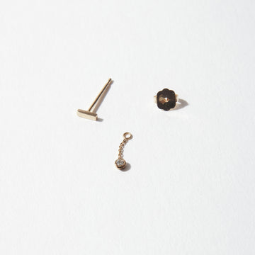 Drift 14K Combo Mixed Short Earring
