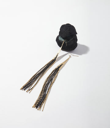 Dune XLong Fringe Earrings