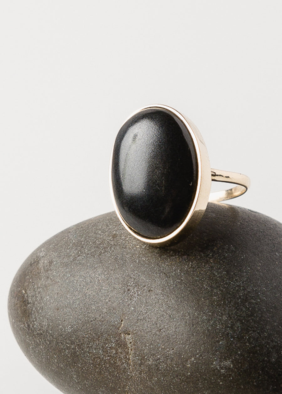 Eclipse Ring 14k Black Eye