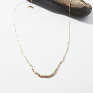 Dune Crystals Long Half Light Necklace