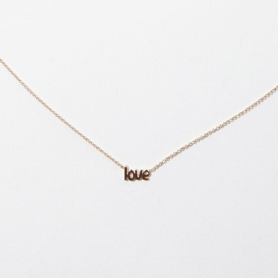 14k Love Necklace