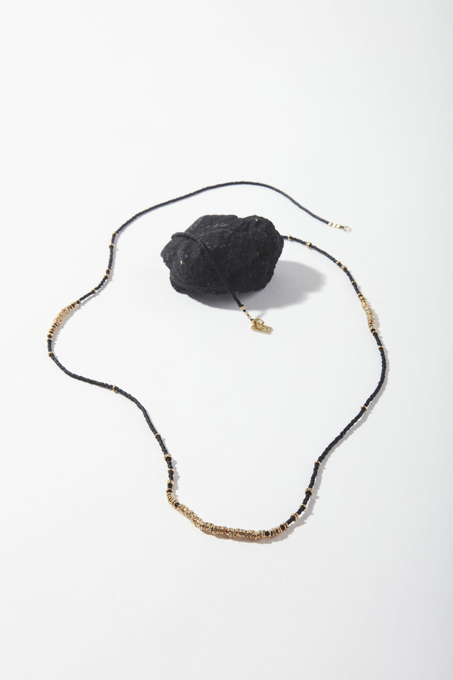 Lune Noir Crystals Long Full Necklace