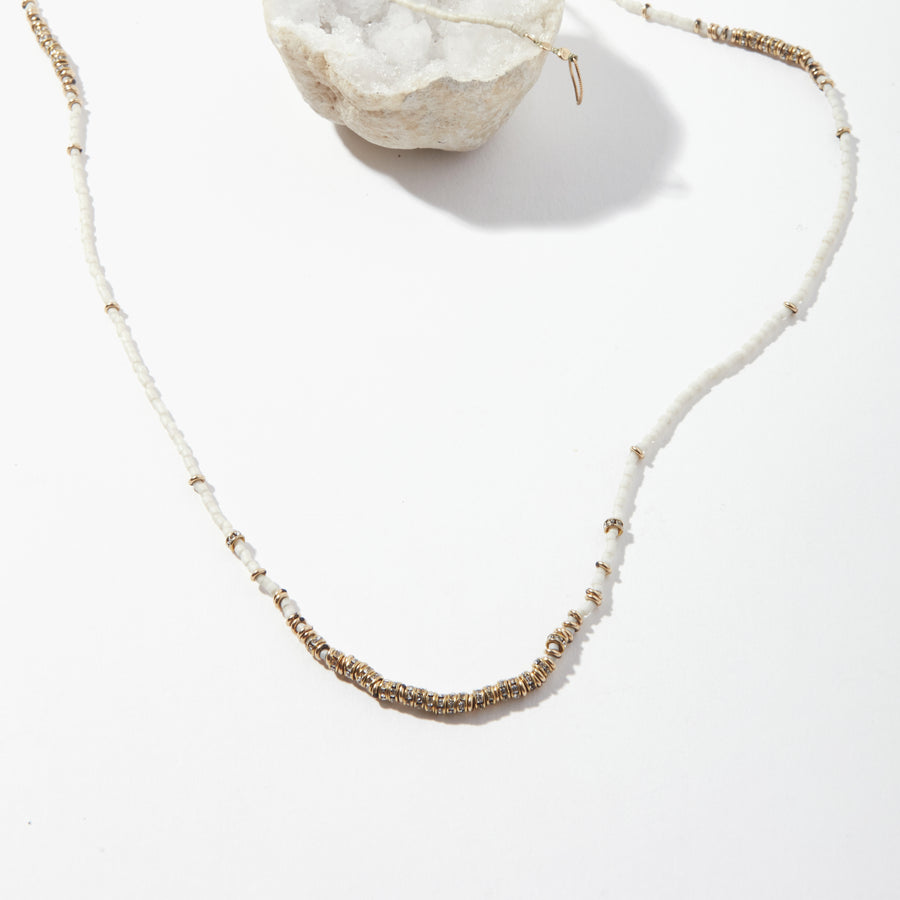 North Crystals Long Full Necklace