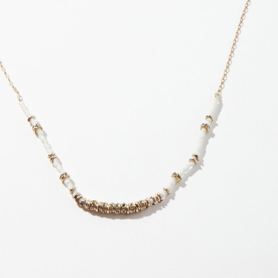 North Crystals Short Half Necklace