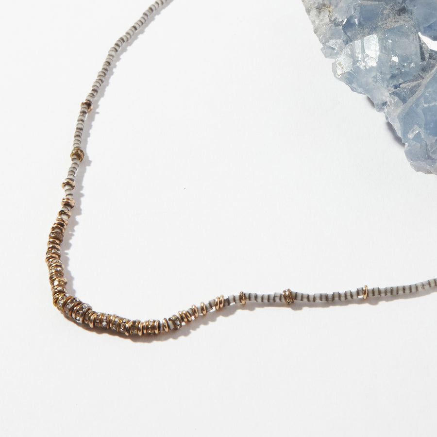 Plene Lune Crystals Short Full Necklace