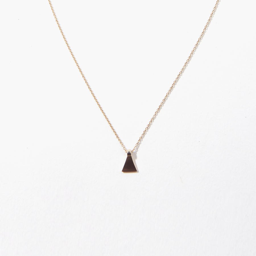 Dune 14k Tiny Pyramid Necklace