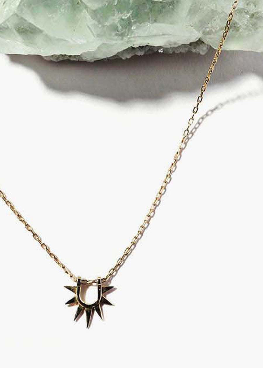 Sister Sun Rays on Chain Necklace