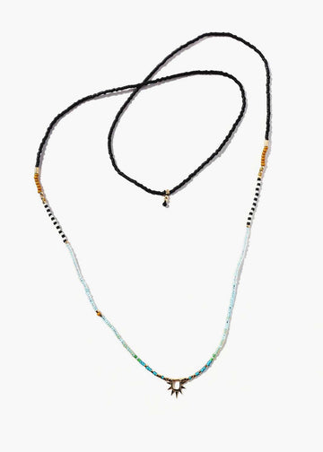 Sister Sun Rays Long Blue Necklace