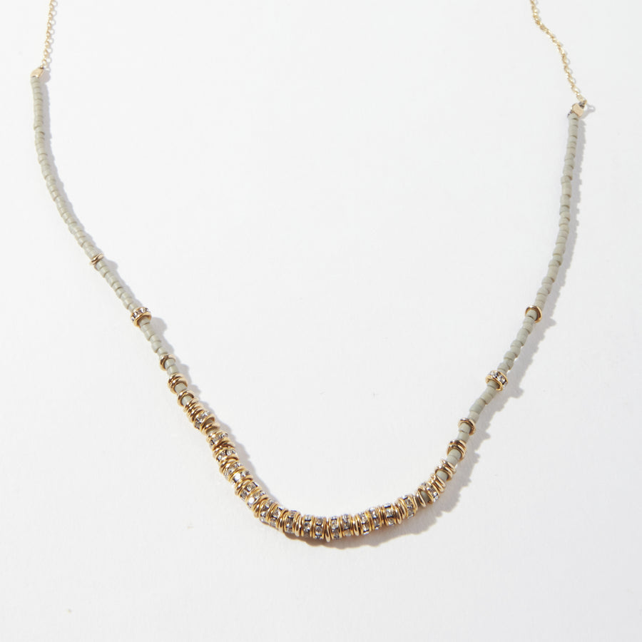 Storm Crystals Long Half Necklace