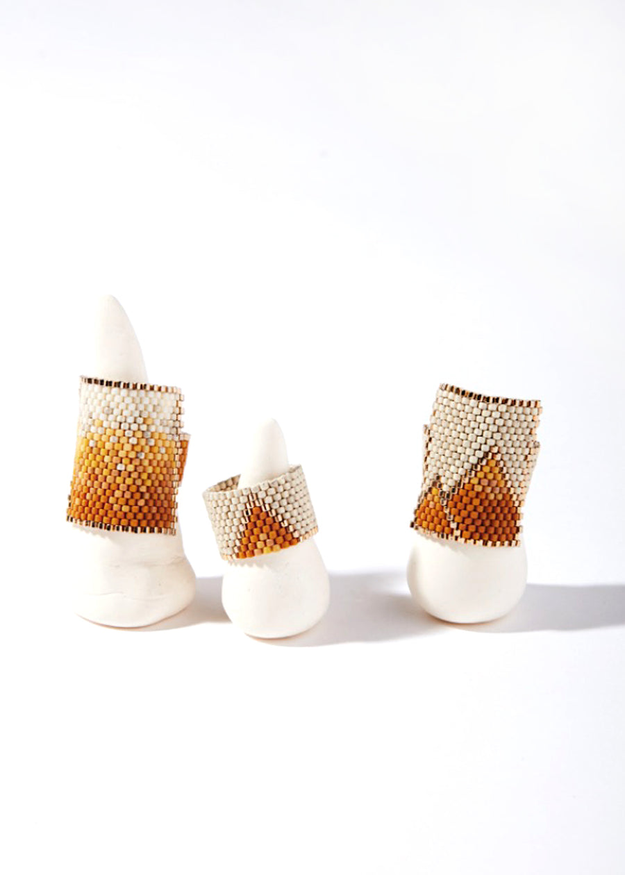 Dune Woven Rings -  Light