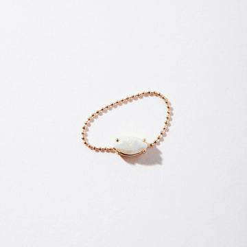 Milk & Honey 14k Opal on Chain Ring