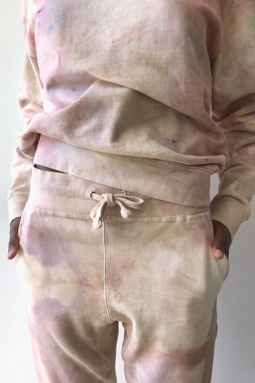 Hand Dyed Sweatpants - Desert