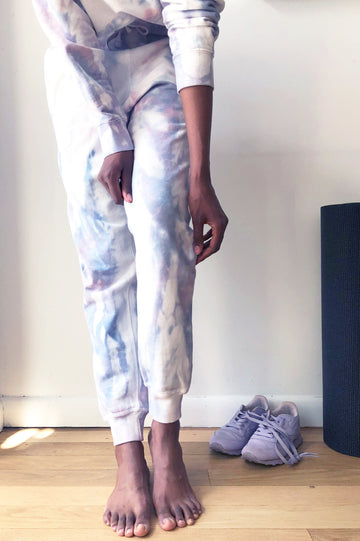 Hand Dyed Sweatpants - Sky