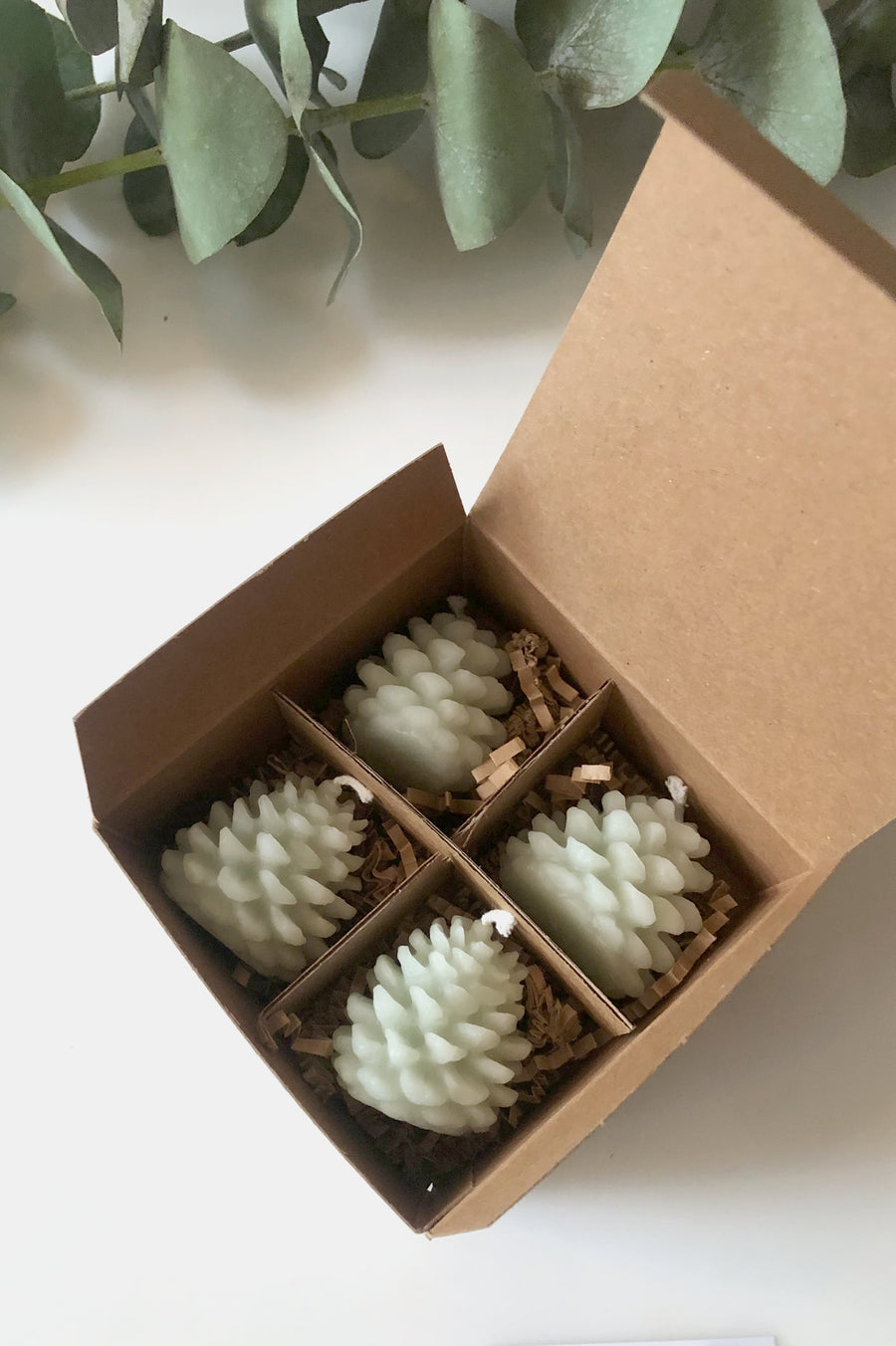 Tiny Pinecone Candles -  Celedon