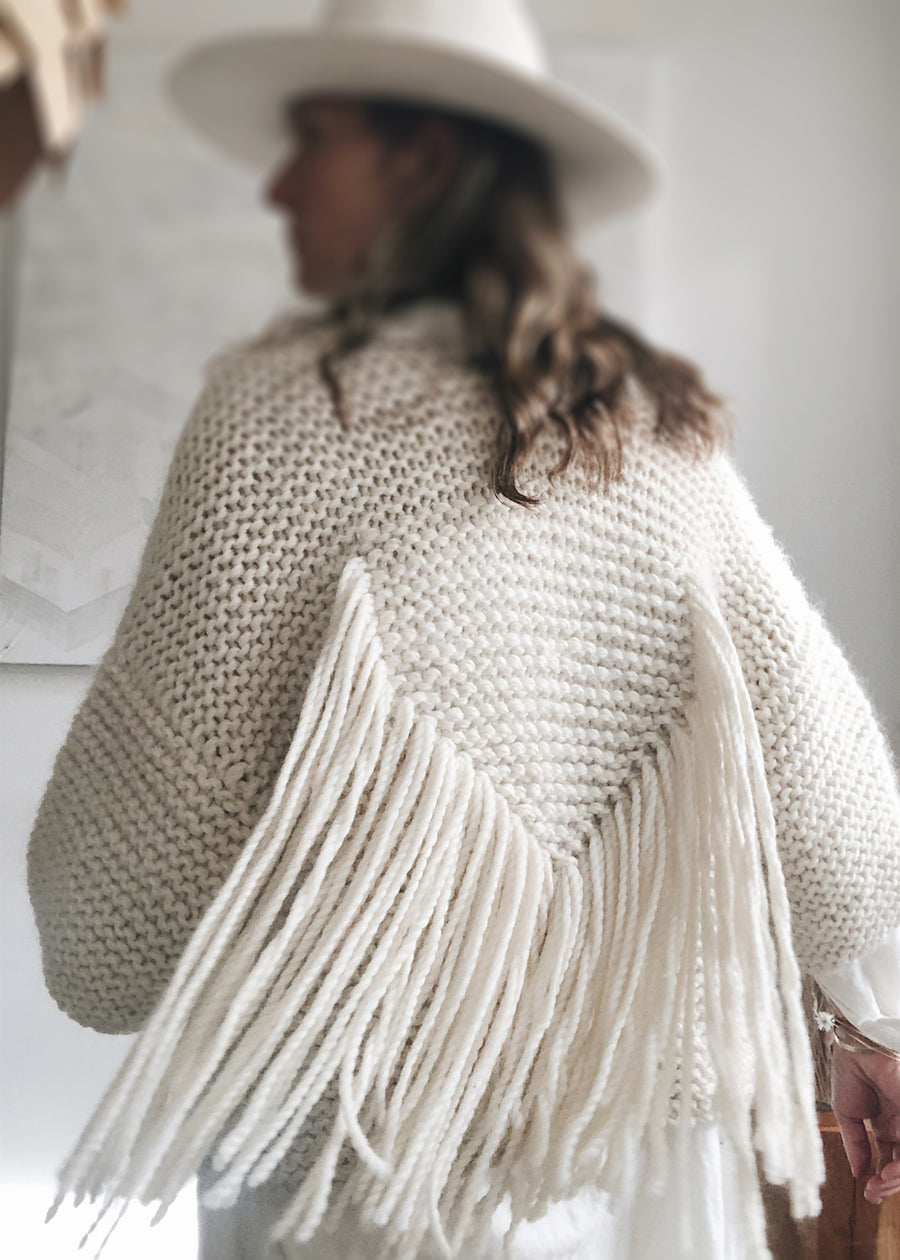 Angel Wing White Cardigan