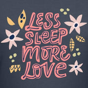 "Økologisk T-shirt - ""Less sleep, more love"" - Buump"