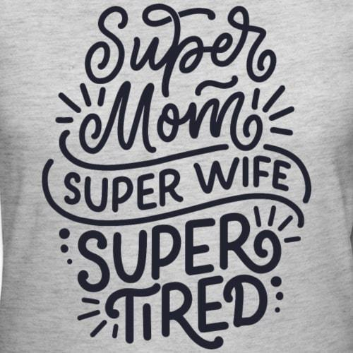 "Økologisk T-shirt - ""Super mom"" - Buump"