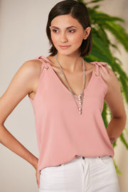 Summer Cami Top in Lilac colour with Adjustable Shoulders - jqwholesale.com