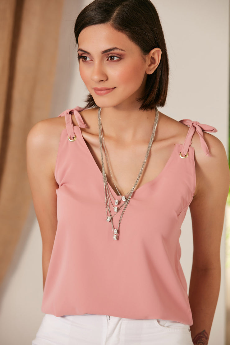 Summer Cami Top in Pink Colour - jqwholesale.com