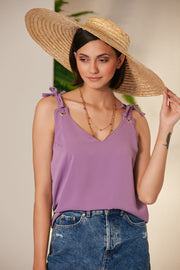 Summer Black Cami Top with Adjustable Shoulders - jqwholesale.com