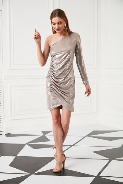 Party Mini dress in Tan colour - jqwholesale.com