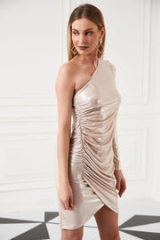 One Shoulder Party Dress - jqwholesale.com