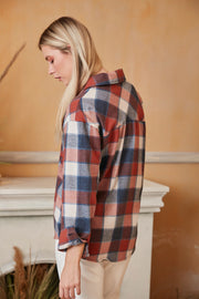Black/White Oversized Checked Shirt/Shaket - jqwholesale.com