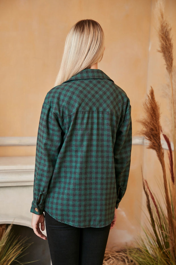 Oversized Blue Checked Shirt/Shaket - jqwholesale.com