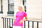 One Shoulder Oversize Summer Top in Pink - jqwholesale.com