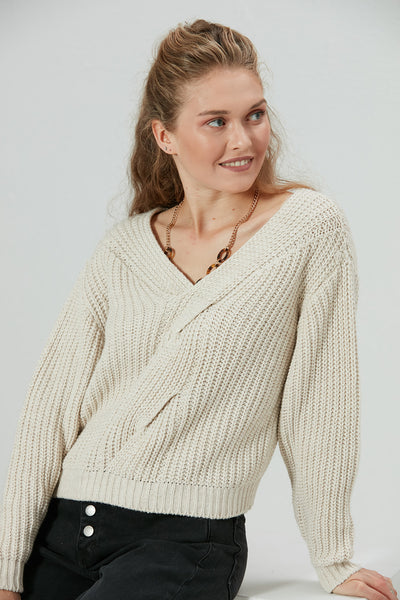 Knitted Crop Jumper - jqwholesale.com