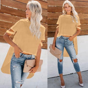 Oversize Summer Top in Yellow - jqwholesale.com