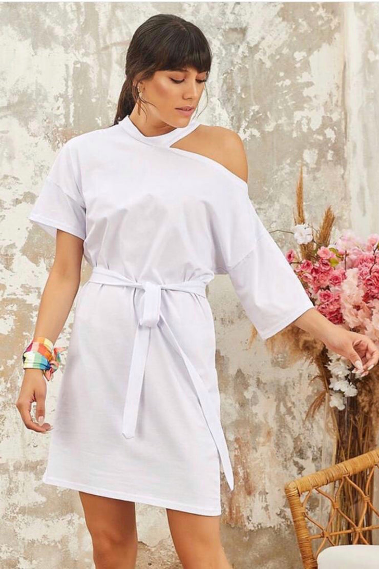 Wrap White Summer Dress - jqwholesale.com