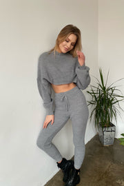 Knitted Loungewear Co Ord Set in Pink - jqwholesale.com